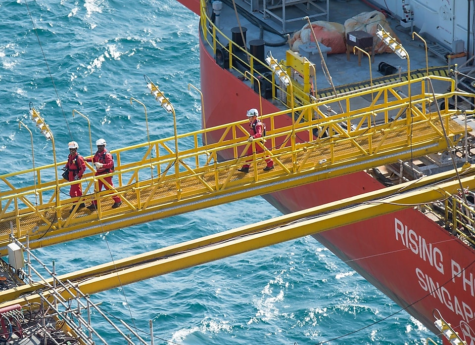 The Pearl 2 Platform supplies gas to the Pearl GTL plant, Qatar