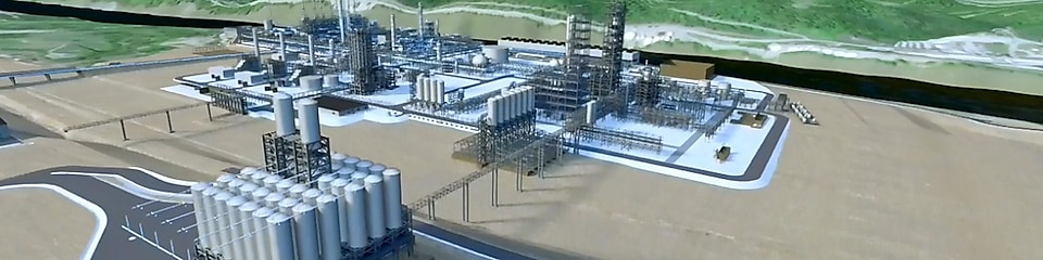Artist's impression of Pennsylvania Petrochemicals Complex