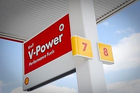 Shell V-Power signage