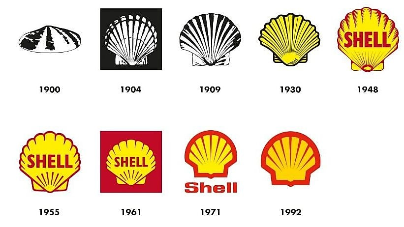The Shell Pecten first became the company's logo in 1904 and has been used in different forms ever since