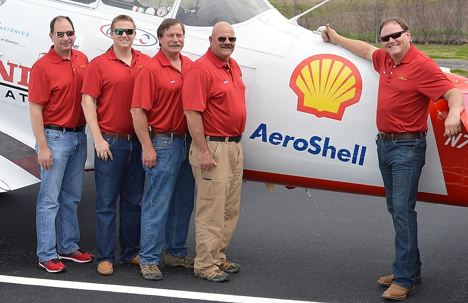 Members of the Shell Aviation Lubricants Team