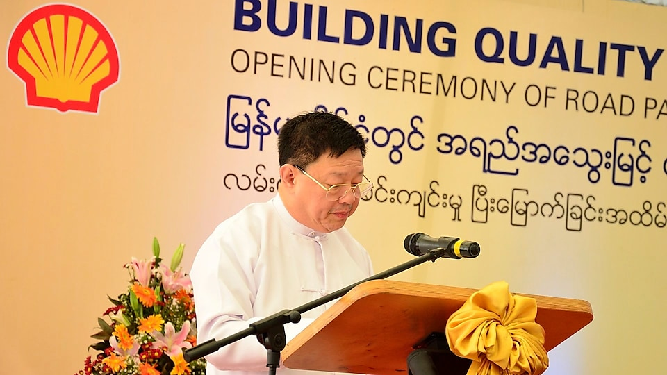 U Maung Kyay, Managing Director of National Infrastructure Holdings Co. Ltd