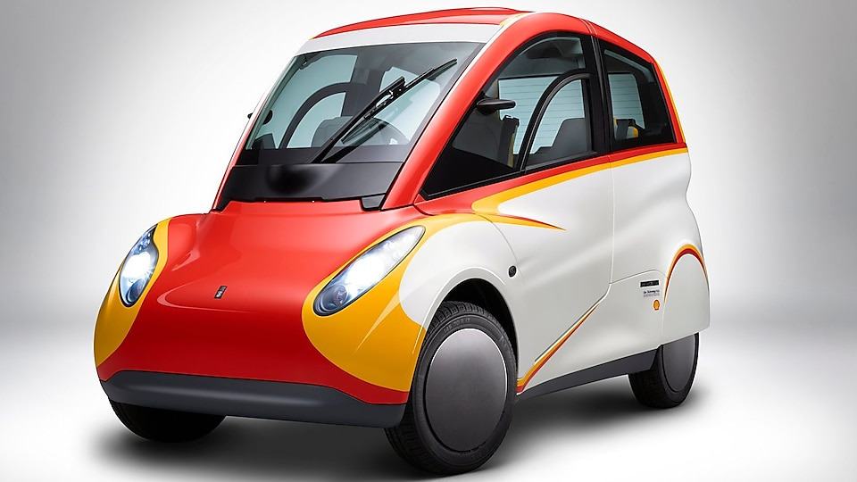 Shell concept car angled side body