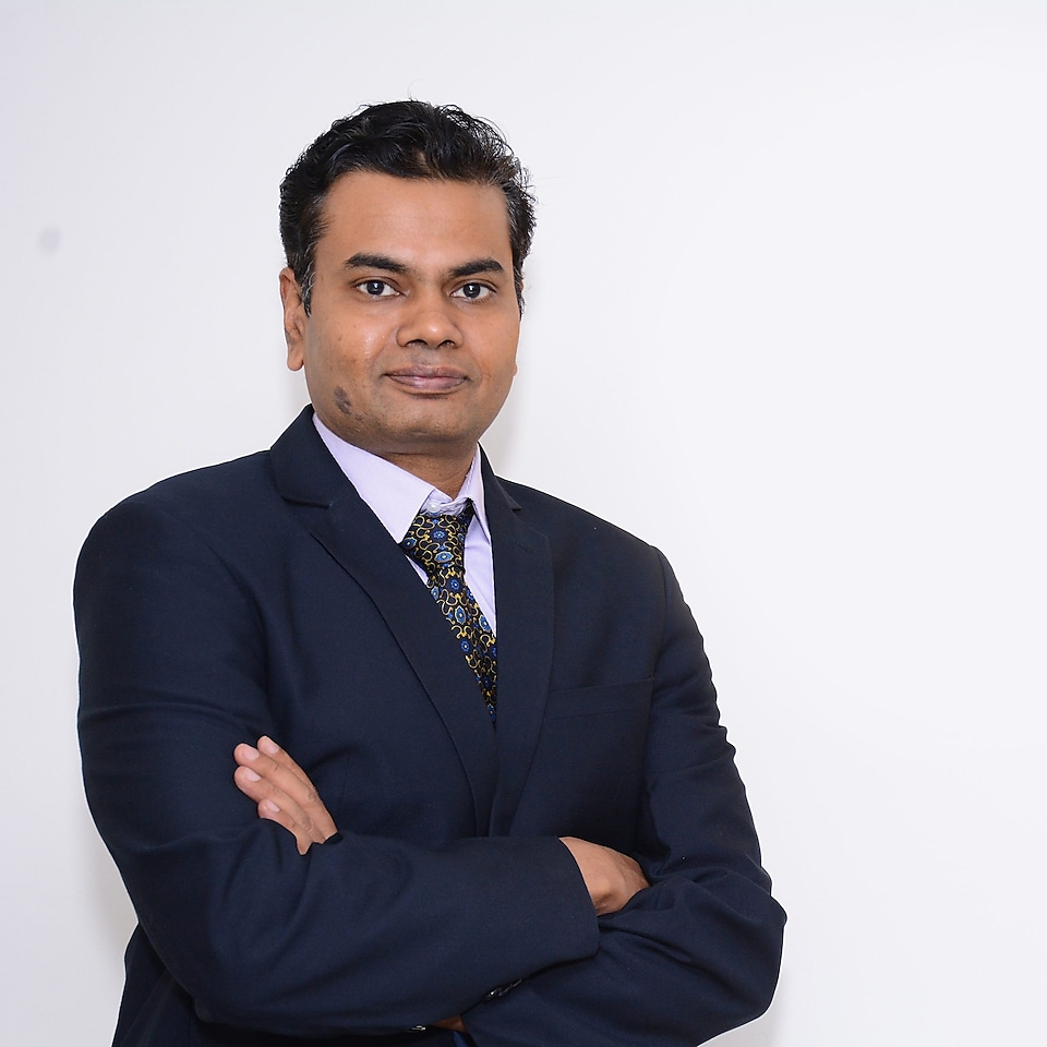 a headshot of Raghavendran Madhavarao, Lubricants Sector Marketing Manager for Shell India