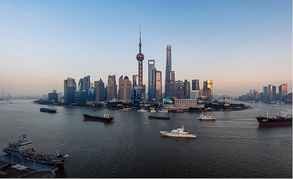 Shanghai skyline and Lujiazui financial district