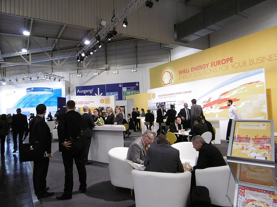 Shell Energy Europe's stand at E-World in 2016