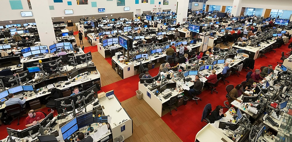 The busy trading floor in Shell Houston
