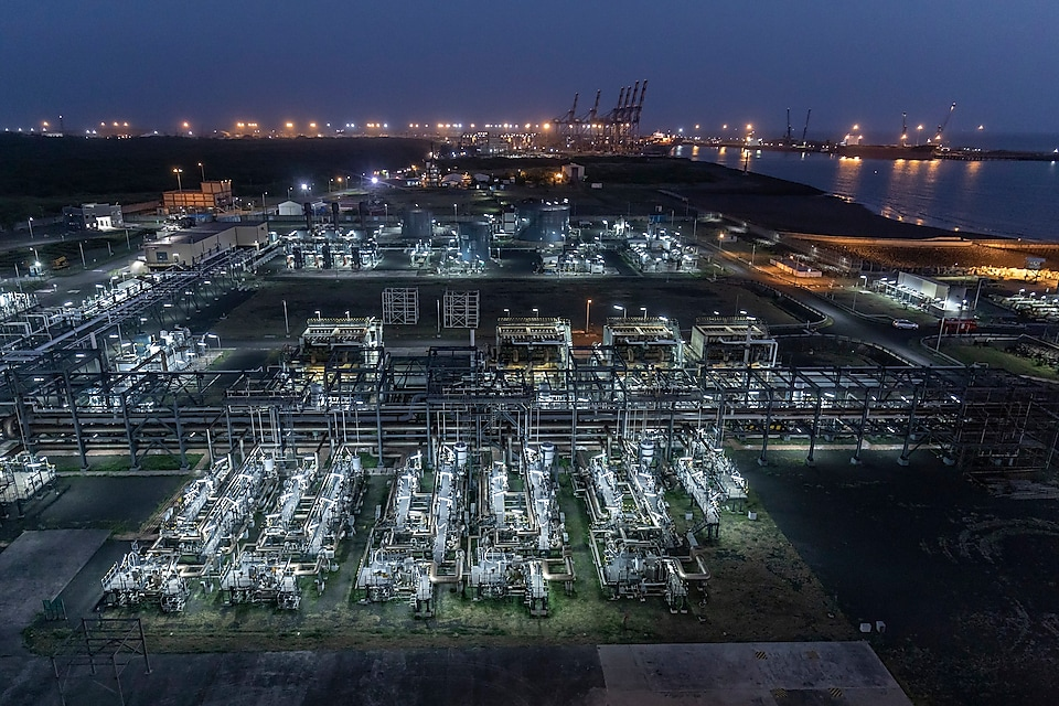 Shell Hazira LNG port, India