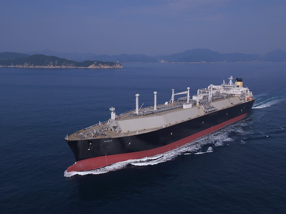 Shell's LNG carried, called Murex travelling through the ocean