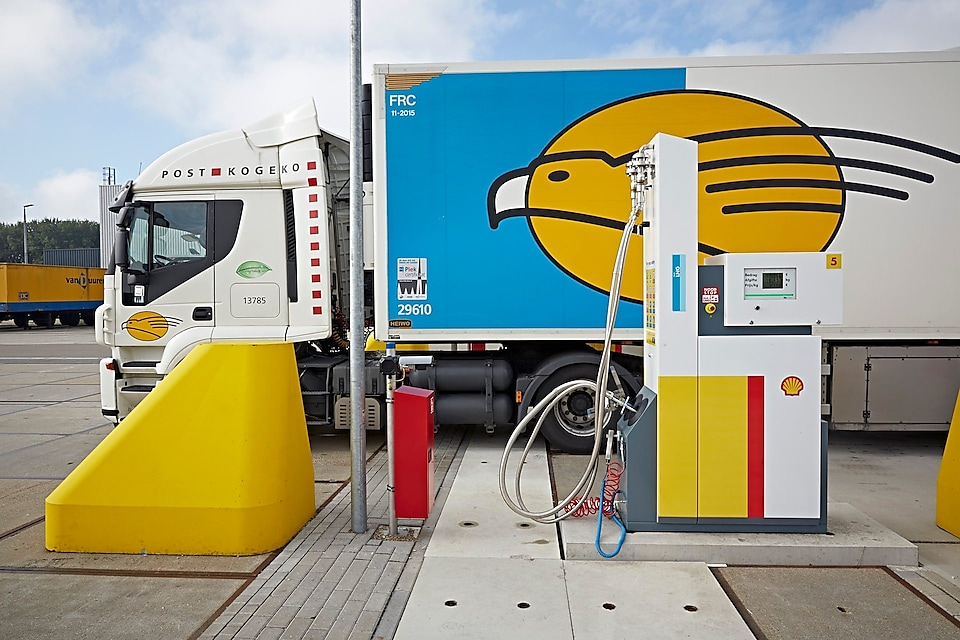 LNG refuelling station in the Netherlands