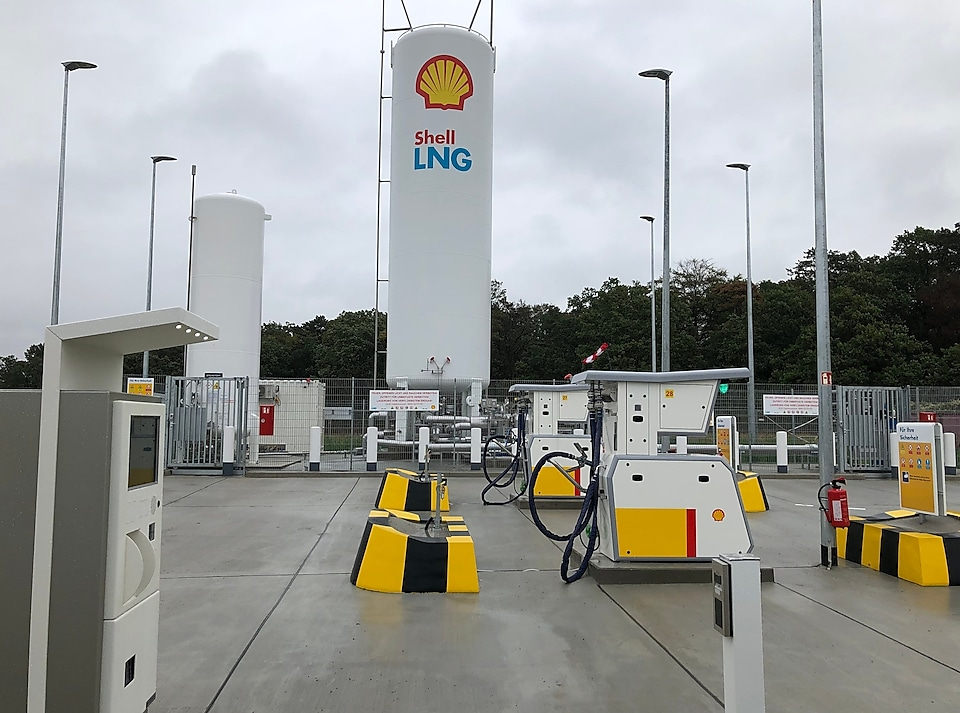 Shell lNG station