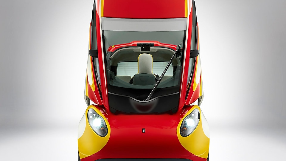 Shell concept car front door up