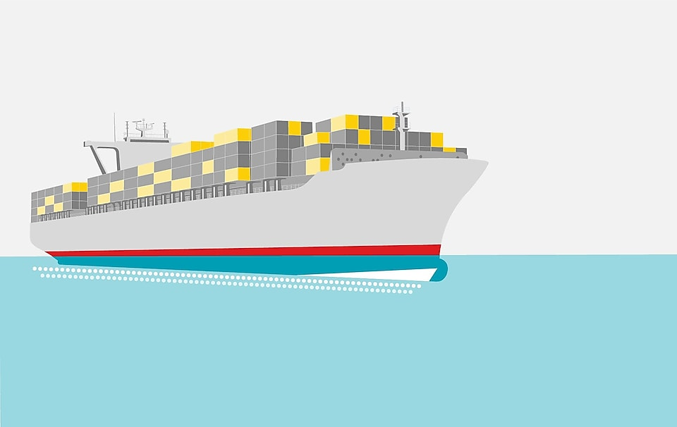 Ship illustration image