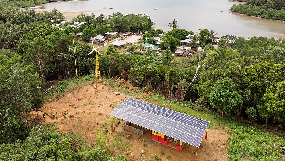 Binaluan's power comes from a micro-grid installed on a hill above the remote fishing village
