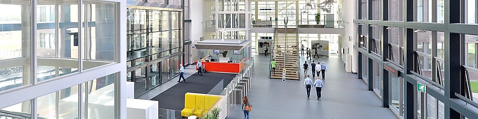Atrium in Shell Technology Centre Amsterdam