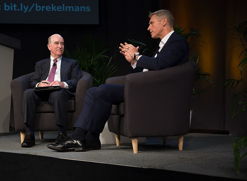 Robert Armstrong in conversation with Shell's Harry Brekelmans