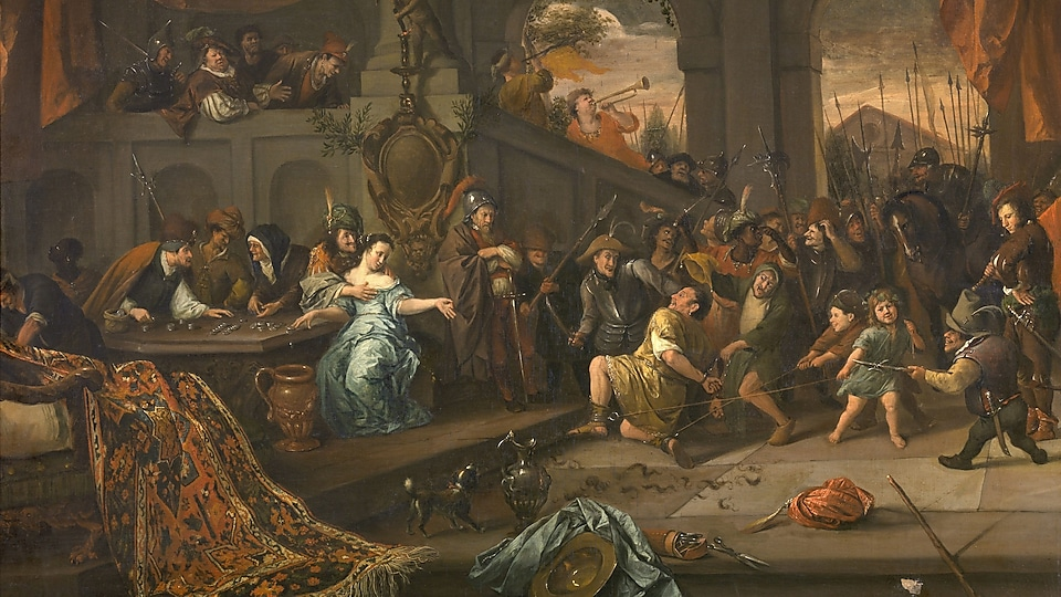 Picture of Jan Steen's The Mocking of Samson