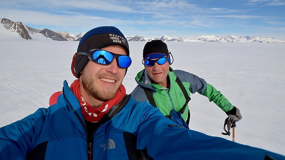 Rob Swan and his son Barney training ahead of their expedition