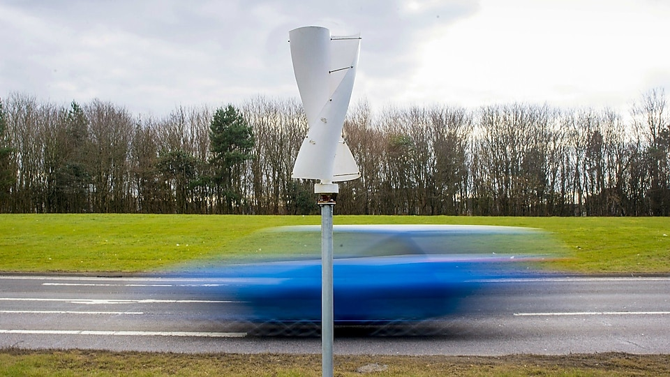 Winds of change: turbine turns traffic into energy