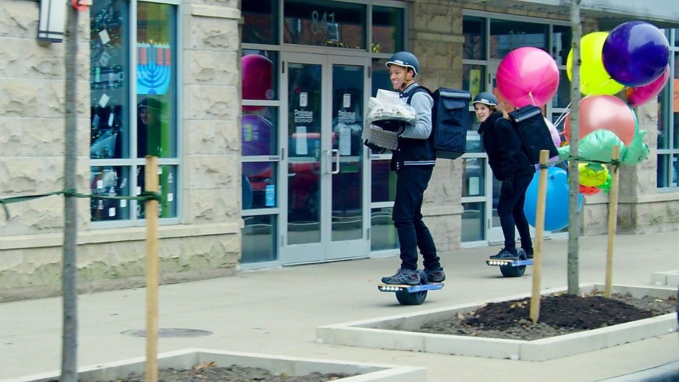 John & Sara popping along on the electric powered Onewheel XR+