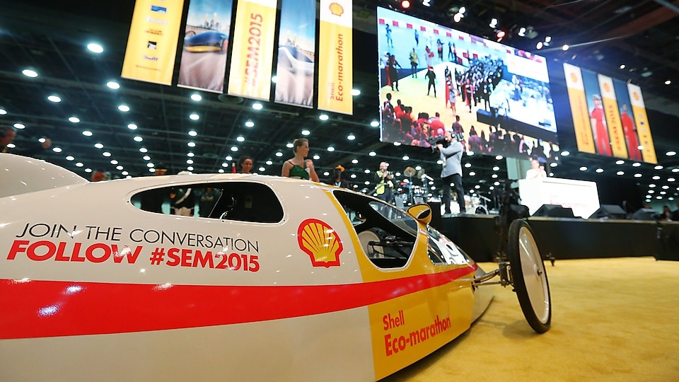 Shell Prototype car close to the stage