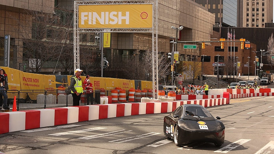 Finish line in Detroit