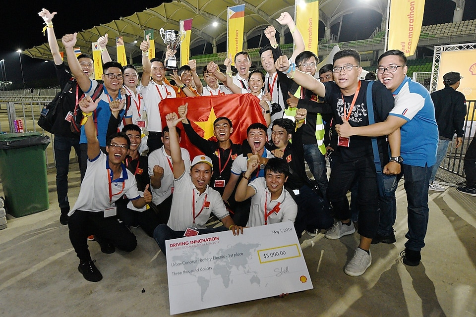 Team LH - EST, race number 701, from Lac Hong University, Vietnam, winners of the UrbanConcept