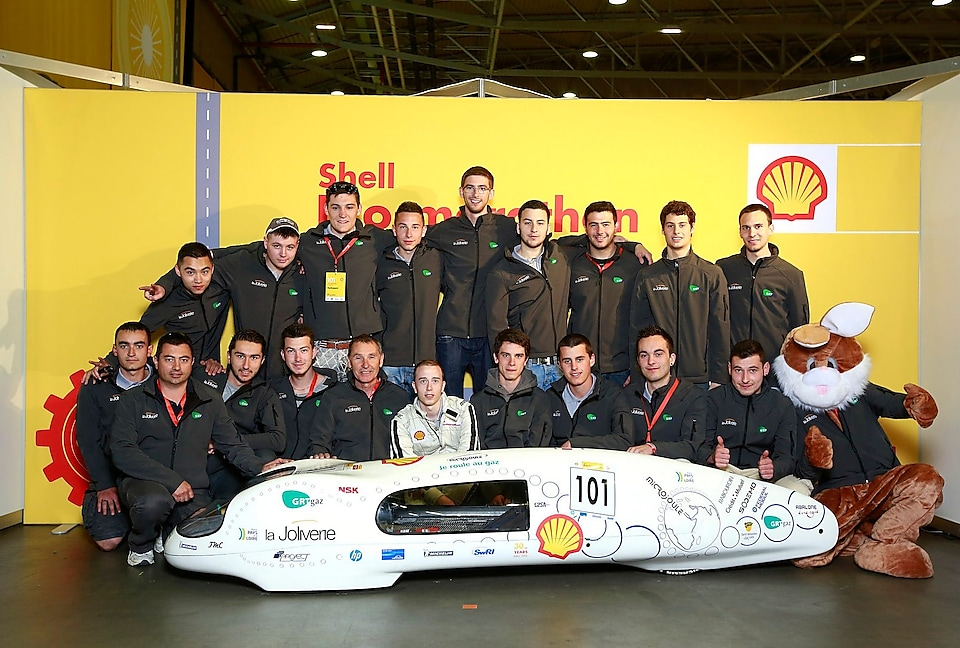 Team Microjoule-La Joliverie during Shell Eco-marathon Europe 2015.