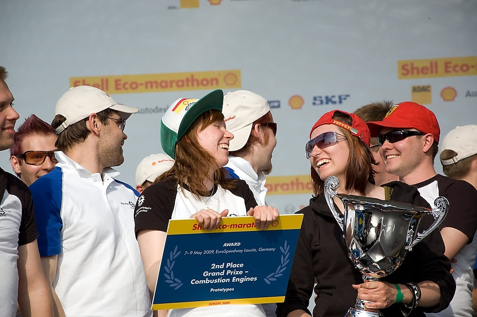 Remmi team during 2009 award ceremony of Shell Eco Marathon