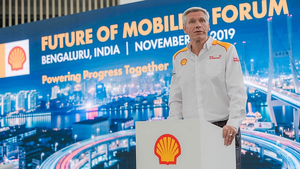 Harry Brekelmans speaking at the Shell Technology Centre Bangalore