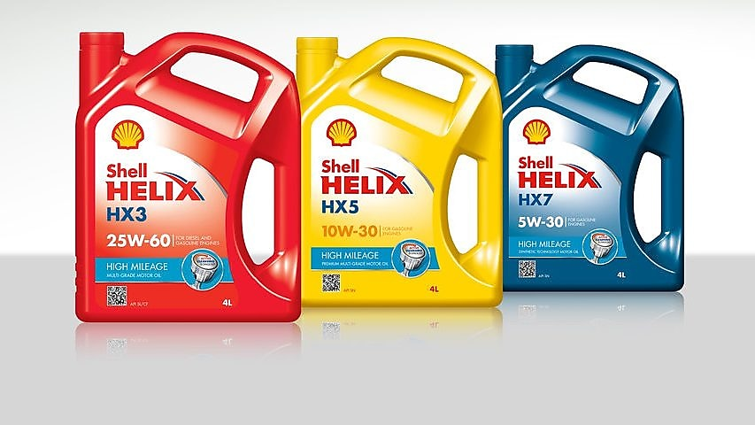 Shell Helix High Mileage Oils